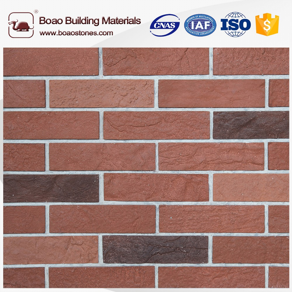 Multicolor artificial culture antique brick panel flat for wall decoration