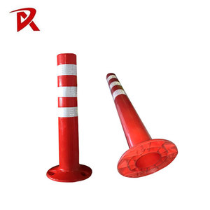 Road Safety PU bollard cover flexible delineator post