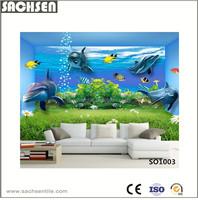 3D Bule Seaworld Decoration Living Rooms Interior Wall Tile Design