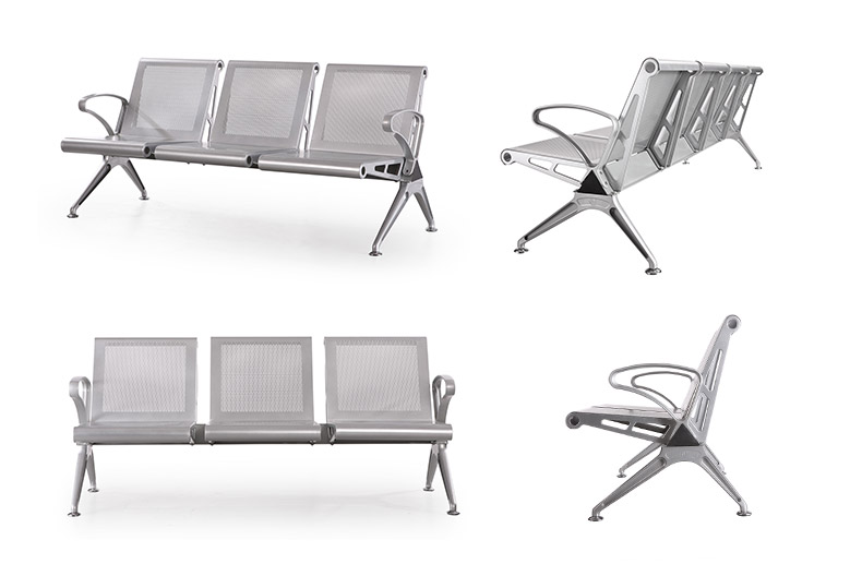 Foshan factory direct sale hospital seating 3 seater hospital waiting chair