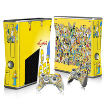 Color Skin Custom Decal For Microsoft Xbox 360 Slim Game Accessories