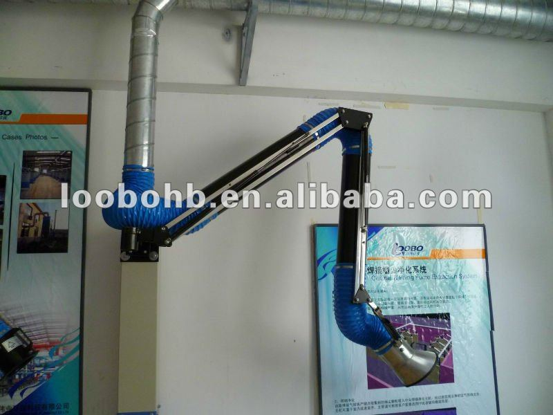 Wall Mount Welding Fume Extractor : Wall mounted ducting type fume extraction arms for the