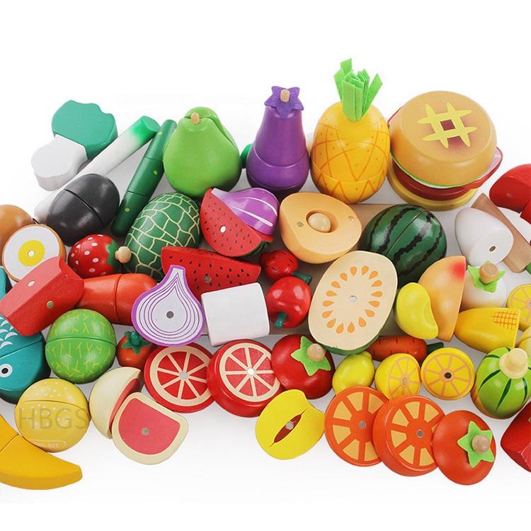 Manufacturer Wooden Fruit Pretend Play Kitchen Cutting Vegetable Toy Set
