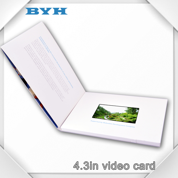 "CE certificate 4.3"" LCD screen optional memory capacity advertising video book"