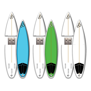 4GB USB 2.0 Flash Drive Funny White Surfboard Shaped Pen Drive Thumb Drive Memory Stick Pendrive