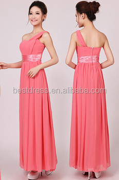 b31c72076f246 Women Long Chiffon Formal Evening Party Ball Gown Prom Bridesmaid Wedding  Dress