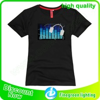 9 Years no complaint Sound activated El T shirt/ Equalizer El shirt/ El flashing t shirt