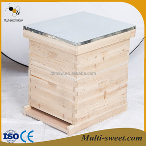 10 and 8 frames honey beehive with metal roof two layer