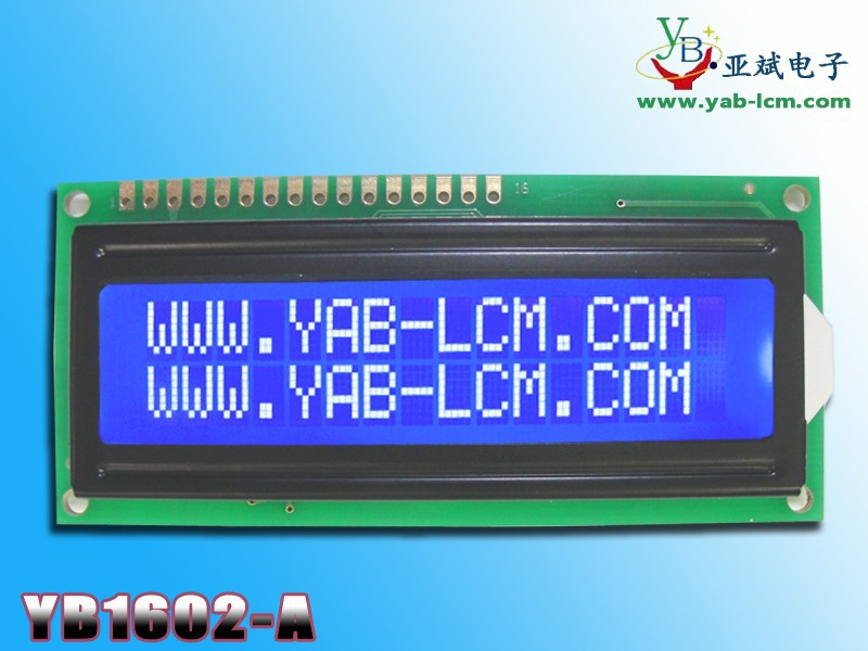 16 PIN parallel interface 16x2 lcd character display
