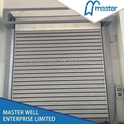 Stainless steel external auto high speed rolling up shutter door