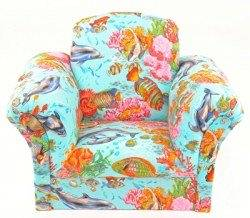 Get Quotations · Kids Chairs Blue Fish