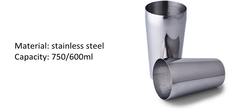 600/750ml two side stainless steel cocktail shaker cup bottle barstuff bar tools whiskey wine shaker cheap home party bar