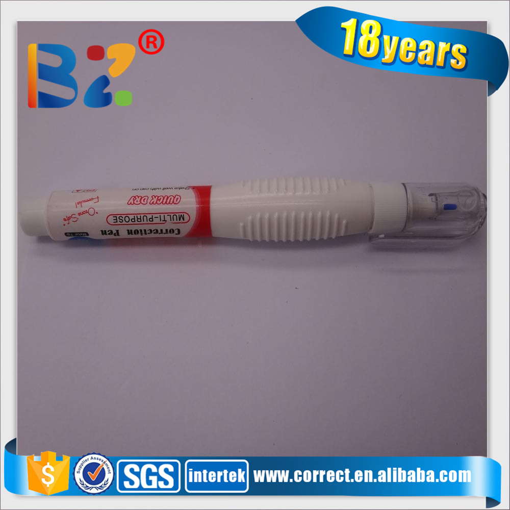 Made in China whiteout correction pen in correction fluid