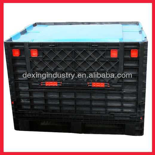 collapsible plastic pallet box with high quality