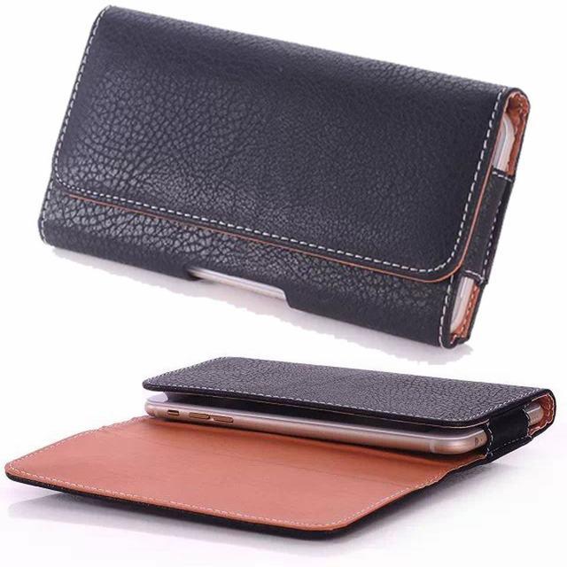Black-Holster-Leather-Phone-Case-Belt-Cl