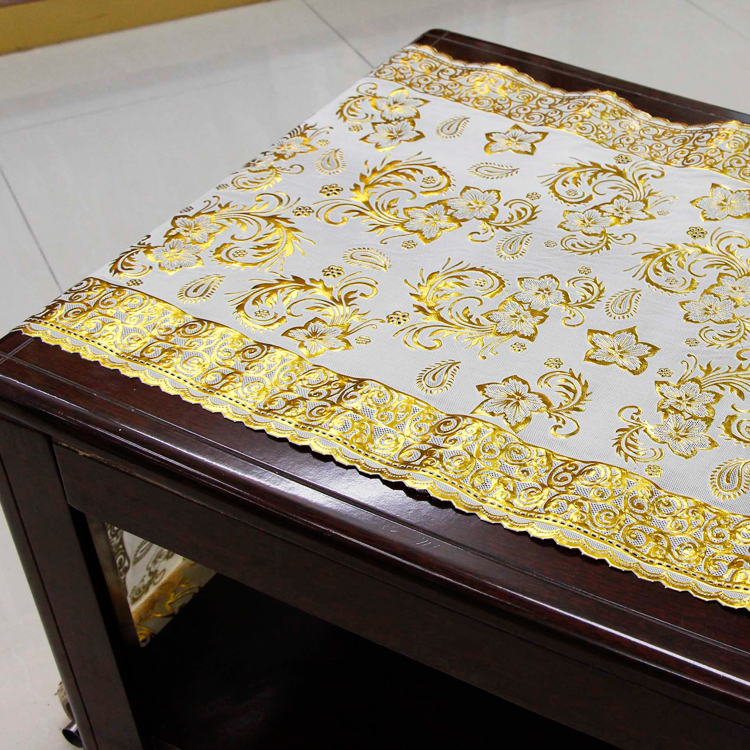 50cm gold longlace indian beaded table covers
