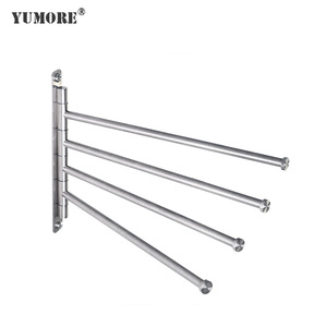 brass extender multifunctional expandable free standing towel rack