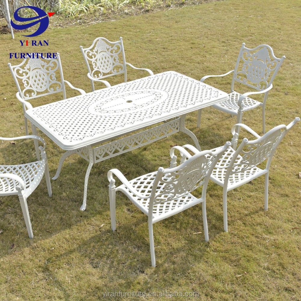 Cast Aluminum Patio Furniture Outside Garden Chair And Table Hotel Swimming  Pool Set - Buy Casting Aluminum Outdoor Patio Furniture,Restaurant