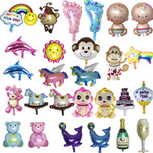 Ex-factory price Kids birthday party supplies decorations mixed style cartoon balloon for baby happy birthday cute foil balloon