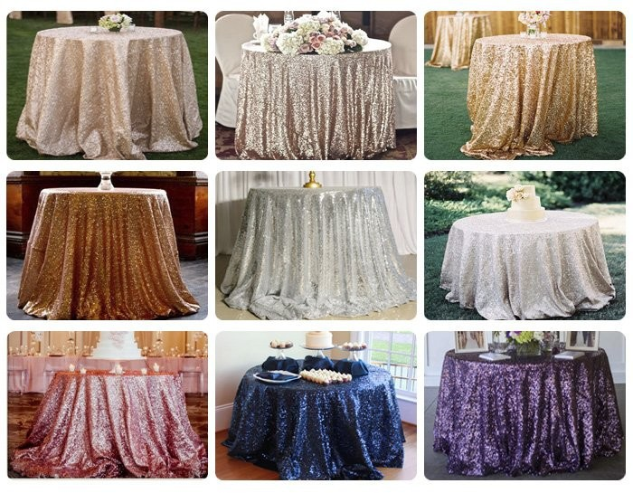 fashionable silver metallic fabric sequin table cloth