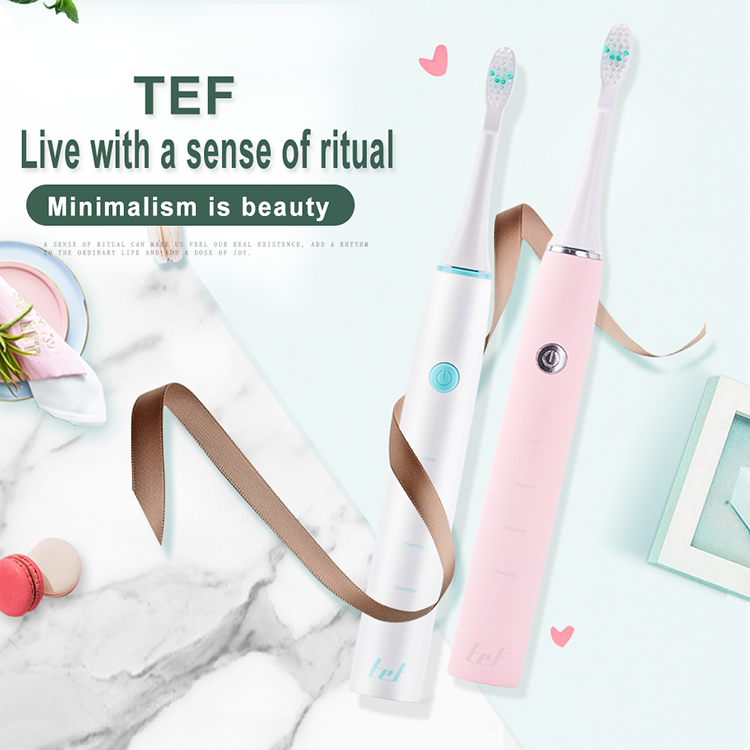 TEF04 Hoge Kwaliteit Reizen Lock Vervanging Heads Sonic Trillingen Ultrasone Tandenborstel