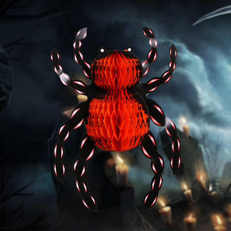Halloween Ornamenti Fatti A Mano A Nido D'ape 3D Parete Spider Witch e Trick or Treat Porta Ornamenti per la Decorazione Di Halloween