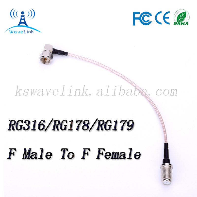 RF Coaxial Cable F Female To F Male Connector F type RF Jumper Cable