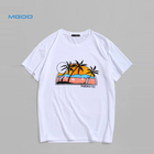 Men's Custom Plain White 100% Organic Cotton Sublimation Printing Logo Oversize T-shirts