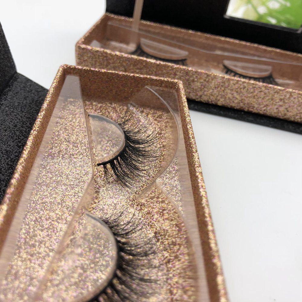 Best Lashes Vendor 3d Mink Fur False Eyelash Marble Lash Box, Natural black