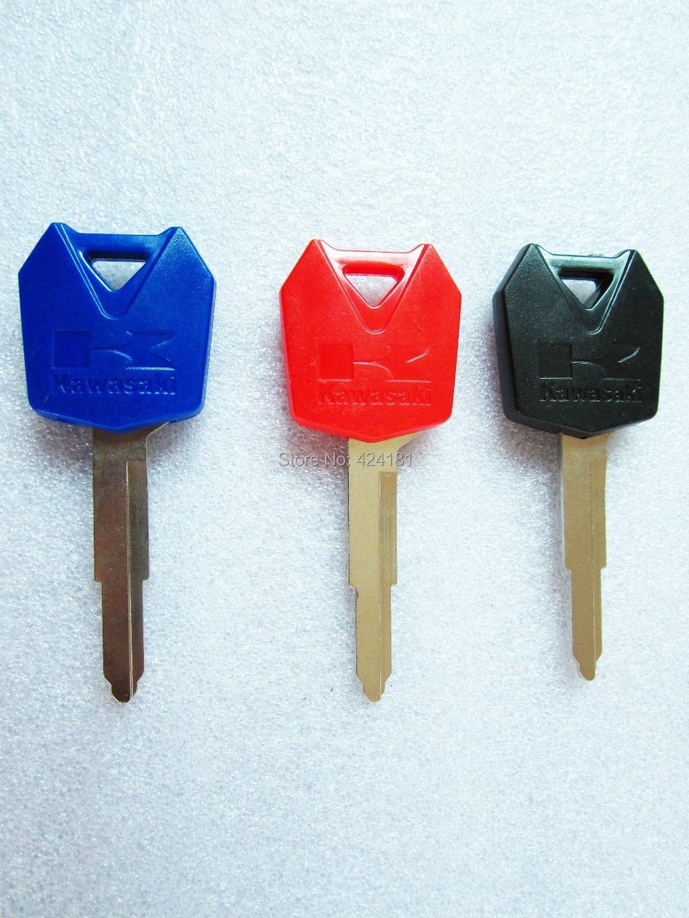 3 X мотоцикл пустой режиссерский ключ ключи для KAWASAKI ZX6R ZX9R ZX10R ZXR250 ZXR400 ZZR 400 600 ниндзя красный синий черный