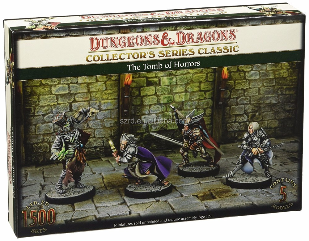 Dungeons And Dragons 71011BFM The Tomb of Horrors, 5 Unpainted and Unassembled Resin Figures