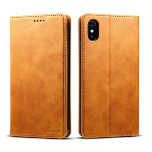 Yapears Handcraft Handmade leather wallet case Flip Cover for iPhone Xs Max