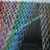 Vertical hanging hook linked decorative chain door curtain