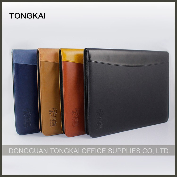 Business Size Checkbook Covers : Premium black pu leather business check binder ring on