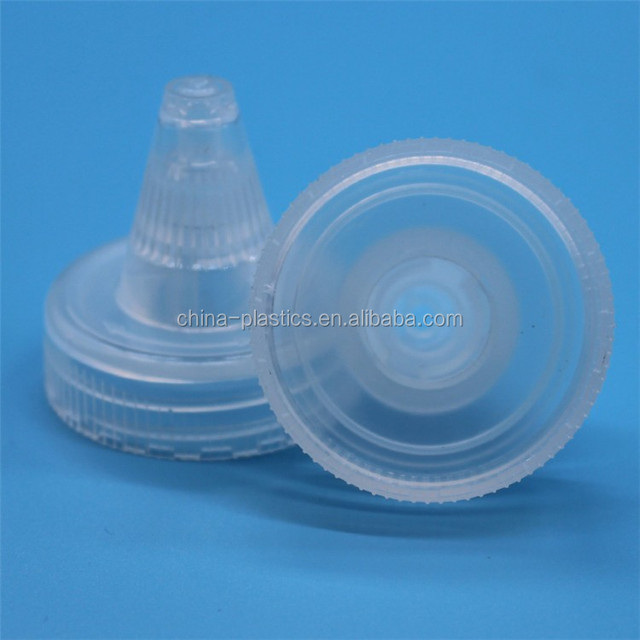 Hot selling competitive price custom clear plastic twist off cover 38/400