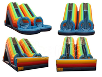Channal Inflatable AOQI EN14960 Giant Inflatable Double Water Slide for Sale