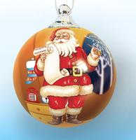 wholesale Custom hand painted glass christmas ornaments ball for christmas tree decoration