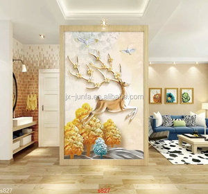 Wall Covering Material Fabric Decorative Wall Painting 3D Wall Cloth