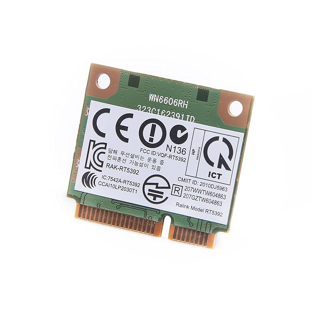 RT5392 2T2R Single Band PCIe Half-Size Mini Card for HP 2.4GHz 802.11 b/g/n