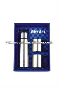 double wall stainless steel vacuum flask gift sets QE-04