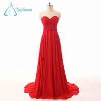 Sweetheart Backless Pleats Appliques Red Women's Evening Dress Wholesale