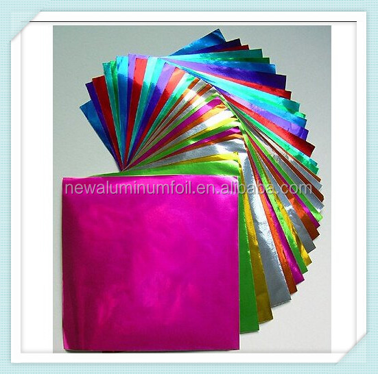 plain foil paper colorful foil sheet chocolate wrapping paper candy foil factory supply