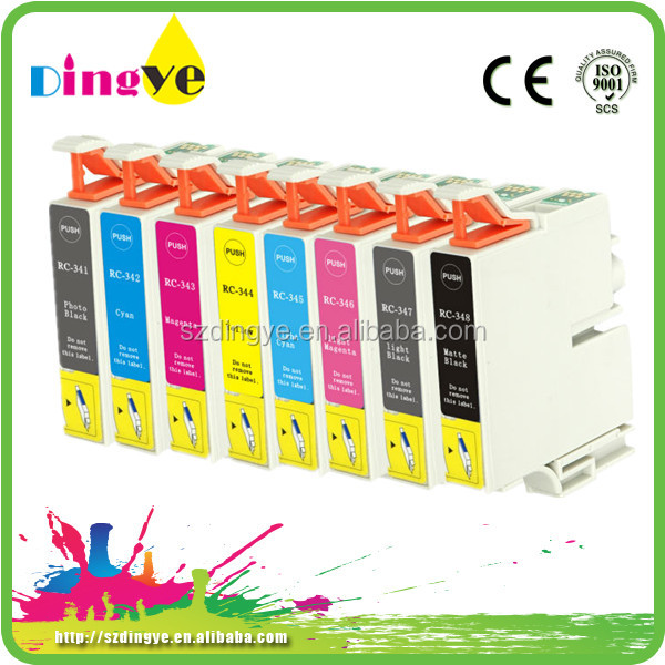 8 color compatible ink cartridge for Epson 341 series eight pcs per set