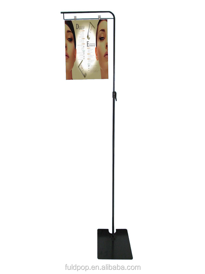 Shopping mall high quality advertising poster picture frame display stand