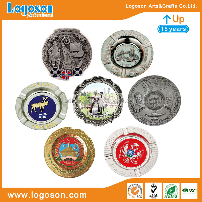 Factory Custom Shape&Logo Souvenirs Metal Engraved Plates Vintage Decoration