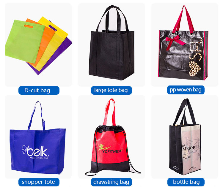 Laminated pp non-woven shopping bag with custom logo