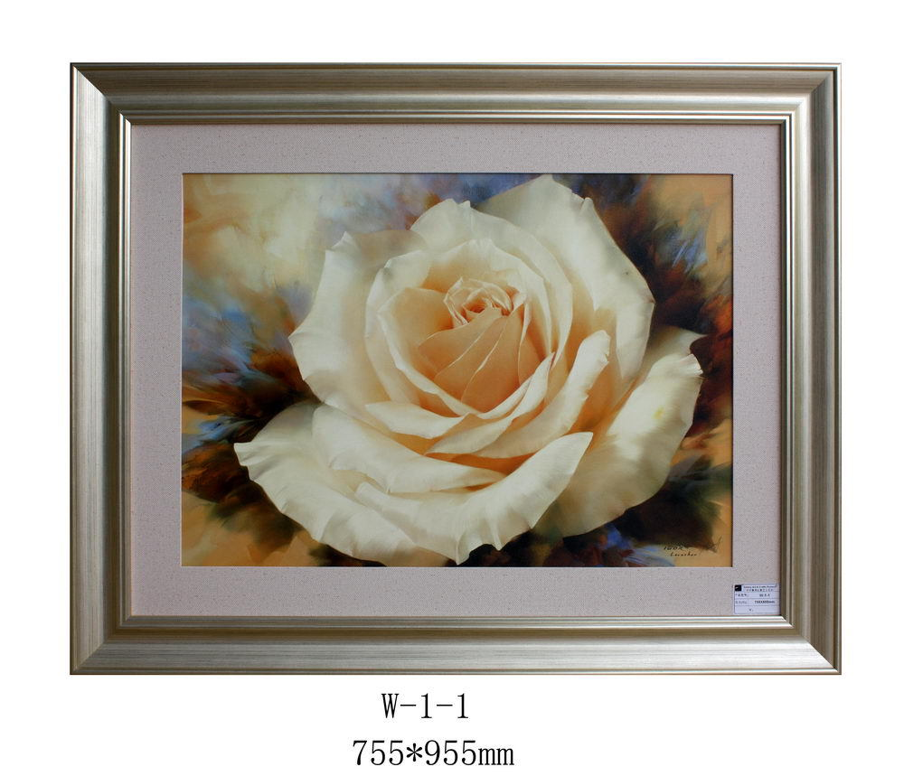 8e6ef2697114 Wall Hanging Plastic Adjustable Silver Plated Flower Picture Frame for Hotel