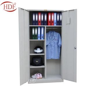 China Factory Steel Almirah Online Shopping/Clothes Cupboard Design/2 Door  Iron Cupboard
