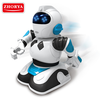 Zhorya Intelligence education cartoon robot kids machine toy with colorful light