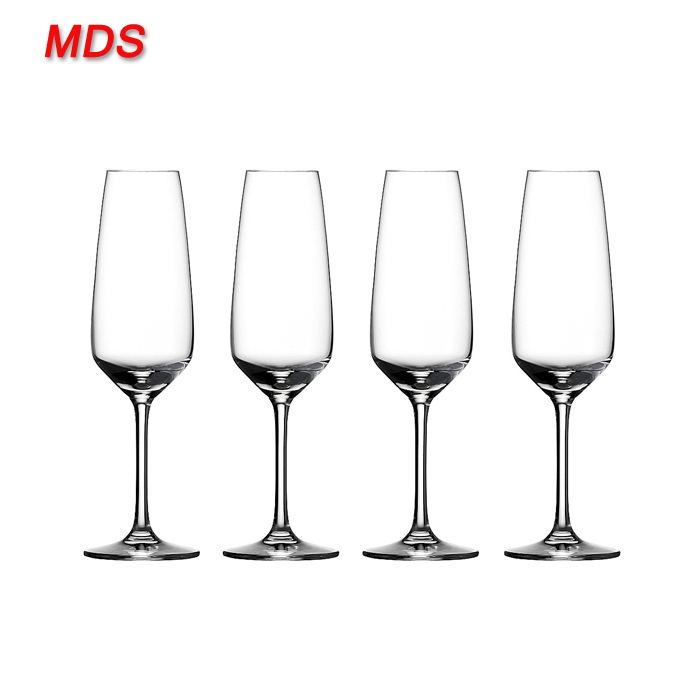 Made in china led crafted champagne glass flutes in vase